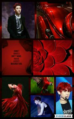 Exo Chanyeol red MoodBoard