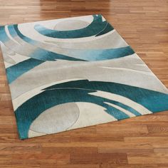 Perfect Storm Abstract Area Rugs by JasonW Studios