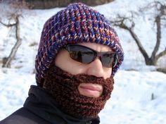 knitted lumberjack hat - I'm a girl and I sooooo want this! Keep my face warm!