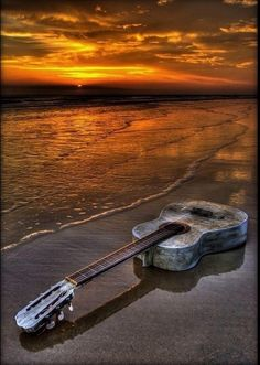 A sunset and a guitar...