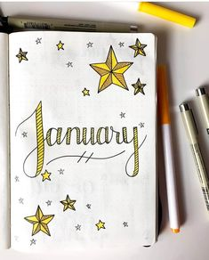 Bullet Journal Monthly Cover Page Theme Ideas