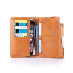 Leather Iphone 7 PLUS Wallet, Leather Iphone 7+ Case, Leather Iphone 6 PLUS Wallet, Leather Wallet,Personalized Gift Wallets,