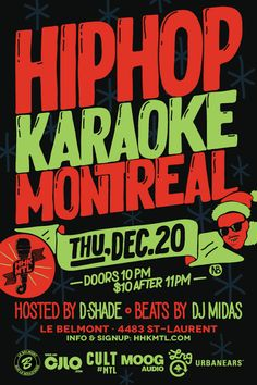 Mad decent block party thirteen city tour across north america hip hop karaoke montreal malvernweather Image collections