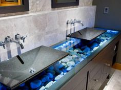 Coloured LED lights are making a big statement in the lighting world and can create amazing effects when used in the bathroom. Install them in the shower, around your bathtub, or even in and around your bathroom vanity for an effect that will leave your guests stunned.