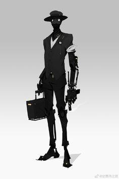 Fantasy Character Design, Character Design Inspiration, Character Concept, Character Art, Dnd Characters, Fantasy Characters, Robot Design, Cyberpunk Art, Monster Art