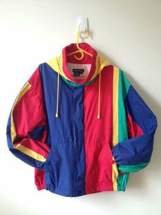 caa8c72bb9a30 vintage nautica color block jacket with by vintspiration (Tech Style Long  Sleeve)
