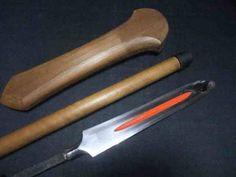 Very rare Japanese SAMURAI Spear Yari unique shaped w/ fine koshirae