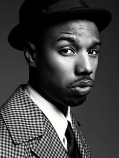 Pin for Later: 22 Michael B. Jordan Photos That Will Make You Feel All Tingly Inside He was shot in black and white for Gotham's July 2013 issue. Michael B Jordan, Celebrity Photos, Celebrity News, Jordan Photos, Chocolate Men, Chocolate Dreams, Handsome Black Men, Black Is Beautiful, Beautiful People