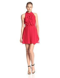 BCBGeneration Women's Ruffle Front Dress, Rouge, 8 BCBGeneration http://smile.amazon.com/dp/B00OVVD1FU/ref=cm_sw_r_pi_dp_21Q6vb1HM41QS