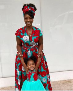 Mummy and me outfit Ankara dress women's dress mother African Fashion Ankara, African Inspired Fashion, Latest African Fashion Dresses, African Print Fashion, African Dresses For Kids, African Print Dresses, African Attire, African Wear, African Outfits