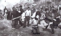 Japanese soldier beheads man in the street during The Rape of Nanking 1937