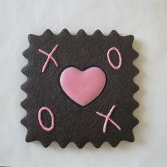 X O Valentine Chocolate Sugar Cookie