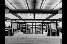 Mies van der Rohe's Esso Service gas station on Nun's Island, Montreal (1969)