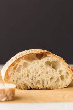 This easy recipe for Ciabatta Bread will give you a rustic Italian bread with just the use of a stand mixer. No kneading is required for this classic ciabatta bread. Italian Bread Recipes, Artisan Bread Recipes, Easy Bread Recipes, Baking Recipes, Bread Flour Recipes, Sweet Italian Bread Recipe, Cornbread Recipes, Jiffy Cornbread, Recipes