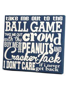 Twelve Timbers Ball Game Panel Art