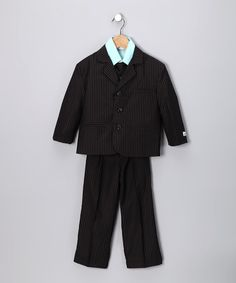 Take a look at this Black & Turquoise Suit Set - Toddler & Boys by Little Stallion on #zulily today!