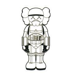 #1130 Star Wars Stormtrooper x KAWS Japan , Height 8 cm , decal sticker - DecalStar.com