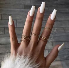 By Trend Trendy Nails M. By Trend Trendy Nails M.,Nails By Trend Trendy Nails Makeup Beauty Party Style nails art nails acrylic nails nails White Acrylic Nails, Best Acrylic Nails, Summer Acrylic Nails, Matte White Nails, White Coffin Nails, Long White Nails, White Acrylics, White Summer Nails, Marble Nails