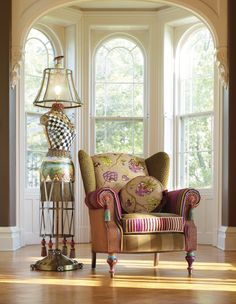 Meet our Dressmaker's Floor Lamp and Bittersweet Wing Chair!