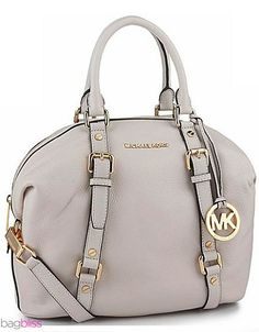NWT Michael Kors Hamilton Blue Saffiano Leather Satchel Shoulder Gold Bag Purse #MichaelKors #ShoulderBag