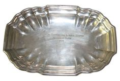 Sterling Silver Dog Show Trophy Tray