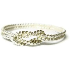 Image of Sterling silver infinity ring sailors knot