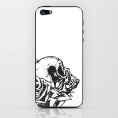 Skull & Roses Variation iPhone & iPod Skin by Noelle Fontaine - $15.00