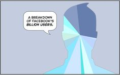 Beautiful illustration depicting distribution of Facebook's 1billion accounts! #humor