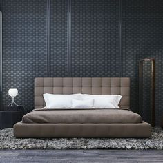 Glorious leather bedroom with lovely home décor with lux bed. Get more interior… Glorious leather bedroom with lovely home décor with lux bed. Get more interior design ideas fro bedroom. Home Decor Bedroom, Modern Bedroom, Bedroom Furniture, Bedroom Art, Contemporary Bedroom, Bedroom Ideas, Contemporary Couches, Bedroom 2018, Bedroom Boys