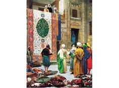 Shop for ''The Carpet Market'' by Jean-Leon Gerome Museum Art Print x 27 in. Get free delivery On EVERYTHING* Overstock - Your Online Art Gallery Store! Get in rewards with Club O! Jean Leon, Exotic Art, Kunst Poster, Poster Prints, Art Prints, Magic Carpet, Cool Posters, Online Art Gallery, Love Art