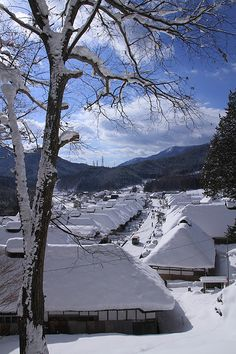 Ouchi-juku, Fukushima, Japan 大内宿