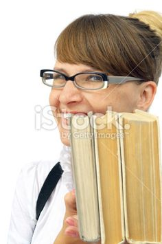 Young lady with books Royalty Free Stock Photo