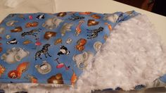 Baby Blanket Minky and Zoo Animals by kalliescotton on Etsy
