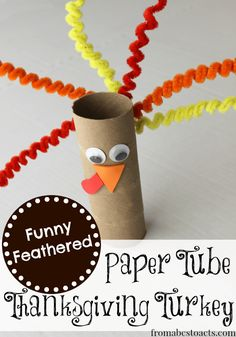 Funny Feathered Turkey Craft for Preschoolers Crafts For 2 Year Olds, Crafts For Seniors, Fun Crafts For Kids, Baby Crafts, Projects For Kids, Infant Crafts, Crafts Toddlers, Senior Crafts, Fall Projects