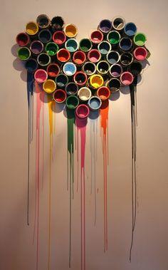 Image detail for -Paint Tins Heart Mr. Brainwash Under ...