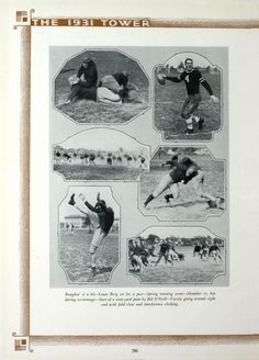 University of Detroit 1931 Tower Yearbook Football pictures