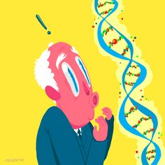A single human hair is nanometers across. A DNA molecule is only two nanometers in diameter. For more mind-shattering facts about DNA, visit AncestryDNA! Science Humor, Science Art, Funny Science, Cartoon Gifs, Cartoon Drawings, Character Illustration, Illustration Art, Character Sketches, Art Illustrations