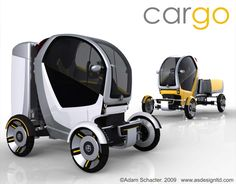 CarGo - Urban Delivery Vehicle by Adam Schacter at Coroflot.com