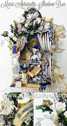 Alpha Stamps News » Marie Antoinette Shadow Box Book Tutorial by Laura Carson