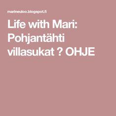 Life with Mari: Pohjantähti villasukat ♥ OHJE