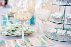 Tiffany Blue Wedding Dessert Table
