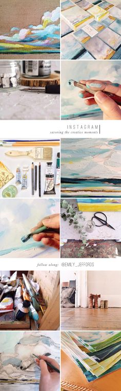 Instagram for Artists: Sharing the Creative Moments (smartly).  From artist Emily Jeffords, Beautiful Hello Blog
