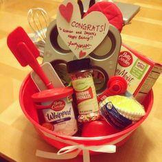 DIY Dollar Store Housewarming Gift Basket. FROM someone who bakes or FOR someone who bakes. Fun, affordable gift! TOTAL $ 20 :) !
