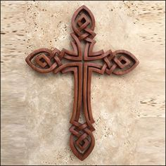 Celtic Cross- Open Knot - Celtic, Viking and Lamp Woodcraft Carvings Celtic Symbols, Celtic Art, Celtic Crosses, Celtic Dragon, Celtic Knots, Cross Patterns, Scroll Saw Patterns, Celtic Designs, Cross Designs