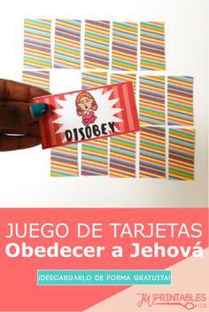 Juego de tarjetas Obedecer a Jehová | JW Printables