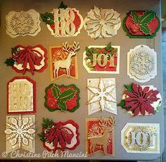 Christmas Gift tags that I made - My Crafty Creations Noel Christmas, Christmas Gift Tags, Handmade Christmas, Christmas Crafts, Handmade Gift Tags, Greeting Cards Handmade, Cricut Winter Wonderland, Cricut Christmas Cards, Anna Griffin Cards