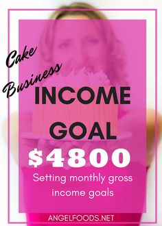 Cake Business Income Goals | Ok, so along with the New Year, came my 2017 business and personal goals. And obviously, any of you running a business will have income $$$$ goals. Whether