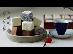 Korean Sweets, Rice Cakes, Kitchen Hacks, Sewing Ideas, Deserts, Appetizers, Food And Drink, Candy, Cookies