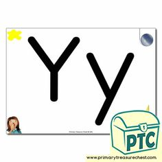 Letter 'y' Themed Flashcards, Word Mats, Posters & Challenges - Primary Treasure Chest Book Activities, Teaching Resources, Teaching Ideas, Upper And Lowercase Letters, Lower Case Letters, Ourselves Topic, Key Stage 1, Sound Art, Primary Classroom