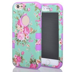 "(Case for Apple iPhone 6/4.7 inches) Bon Venu Pastorale Plant flowers printing Glossy Style 3in1 Armor Defender Triple Layer Hybrid Camo Hybrid Rubberize Soft TPU Back Skin Protective Case Cover Beautiful Orchid Pattern Skin Protector Case Cover for Apple iPhone 6/4.7"" case+Screen Protector (Purple), http://www.amazon.com/dp/B00OWDGJYW/ref=cm_sw_r_pi_awdm_Jo9gwb06HFC8V"